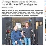 Pressebericht aus dem Göttinger Tageblatt vom 5.6.2014